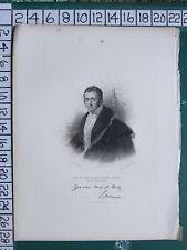 C1840 antiguos impresión ~ John Charles Spencer ~ Earl Spencer