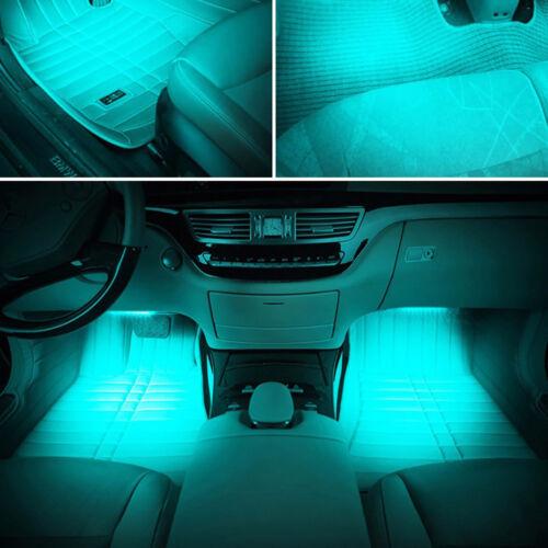 "4x 9/"" 5050 12LED Car Strip Interior RGB Lights 12V Caravan Boat White Blue Red"