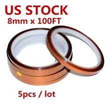 5pcs 8mm 3d Sublimation Kapton Tape Heat Resistance Proof Tape For Heat Transfer