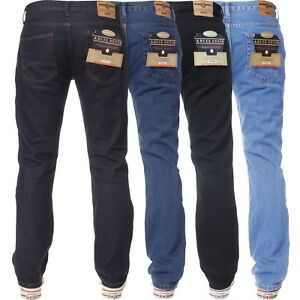 Kruze-Denim-Mens-Work-Jeans-Basic-Heavy-duty-Straight-Leg-Regular-Fit-Pants