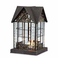 Glass And Metal Architectural Candle Lantern - Bronze-tone Devonshire House on sale