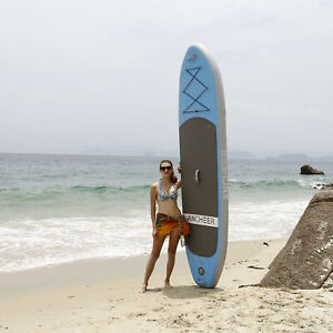 Universal-Inflatable-Stand-Up-Paddle-Board-6-Inch-Thick-SUP-Wide-Stance-W-Bag
