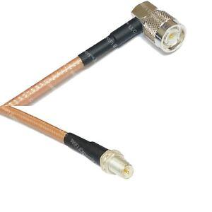 RG400-Silver-TNC-Male-Angle-to-RP-SMA-FEMALE-Coax-RF-Cable-USA-Lot