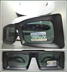 893154528adf Image is loading Classic-Vintage-Retro-Style-SUN-GLASSES-Rectangular-Matte-
