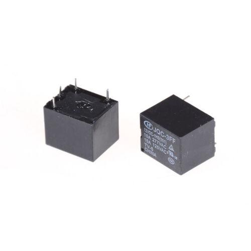5Pcs 12VDC SRD-S-112DM 15A 125VAC 4Pins Coil Power Relay  ZT