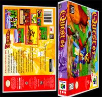 Quest 64 - N64 Reproduction Art Case/box No Game.