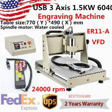 New Listingusb 1500w 6040 3 Axis Cnc Router Engraver Metal Milling Engraving Machine Vfdrc