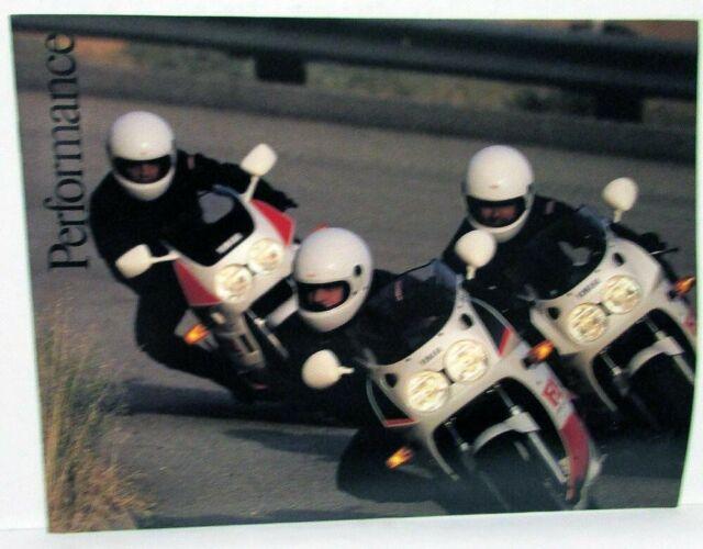 1988 Yamaha Performance Motorcycle Dealer Sales Brochure FZR 400 750R 1000