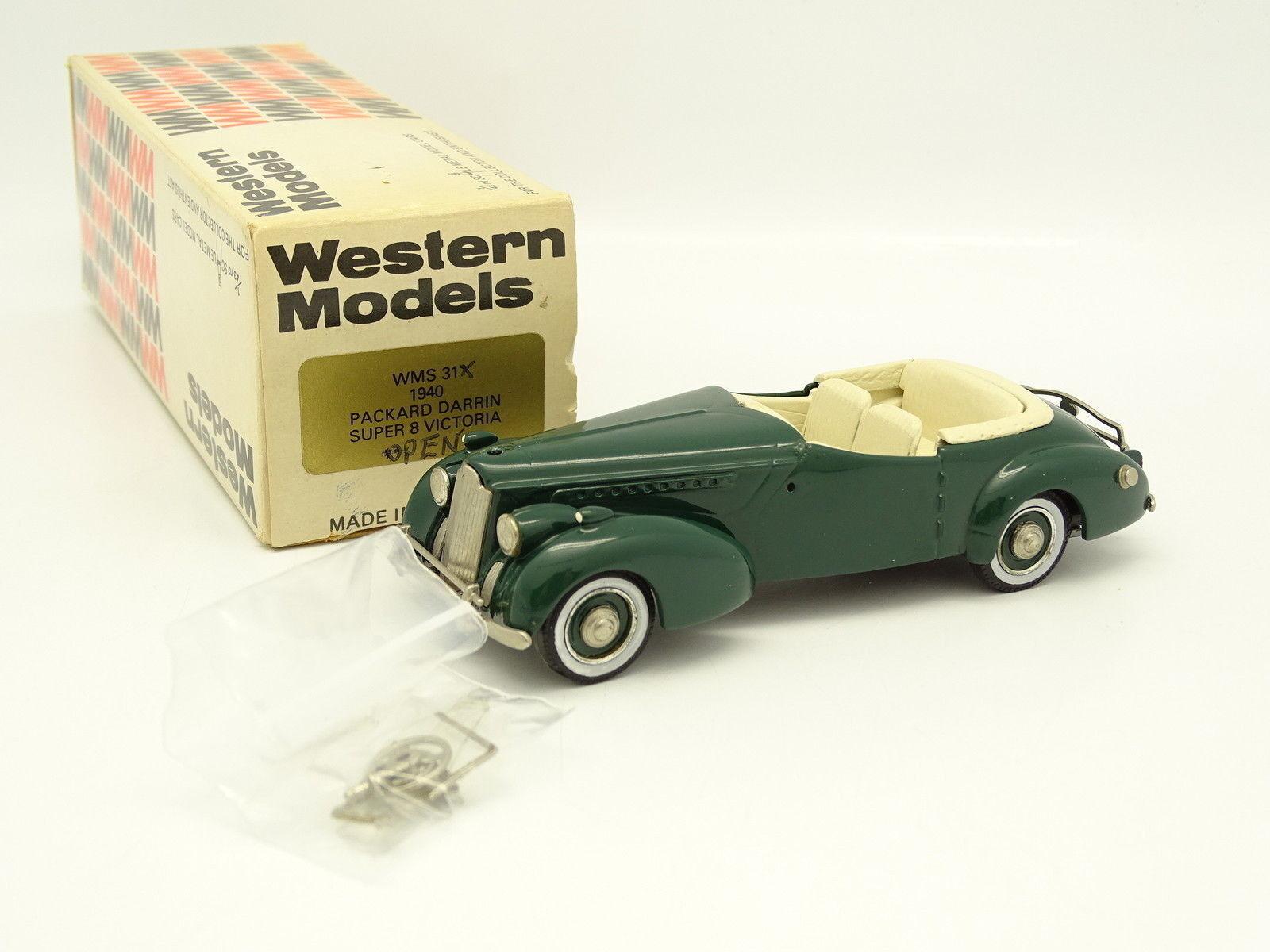 Oeste Modelos 1 43 - Packard Darrin súper 8 Victoria Open verde