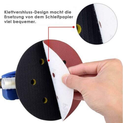 Druckluft Exzenterschleifer Schwingschleifer Schleifmaschine 7x Schleifpapier DE