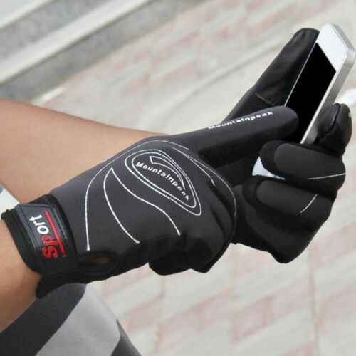 Mens Winter Warm Windproof Thermal Anti-slip Touch Screen Gloves Outdoor Sports