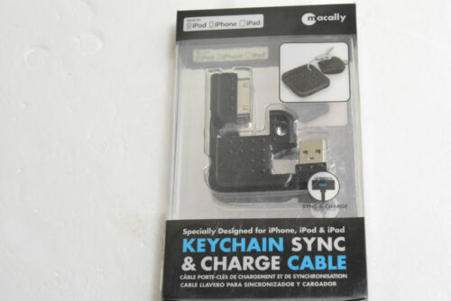 MACALLY KEYSYNC USB CHARGER SYNC KEYCHAIN FOR iPHONE 4S 4 3GS 3G iPOD TOUCH NANO