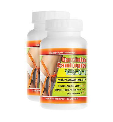 2 Pack Original PURE Garcinia Cambogia Extract  Natural Weight Loss 60% HCA New
