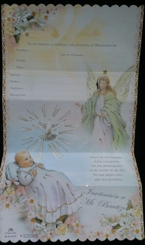 Spanish BaptismChristening invitations Invitaciones de,A Mi Bautizo Favors,party