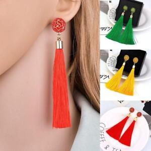 Frauen-boehmische-Ohrringe-lange-Quaste-Fringe-Boho-baumeln-Ohrringe-Schmuck-W7A5