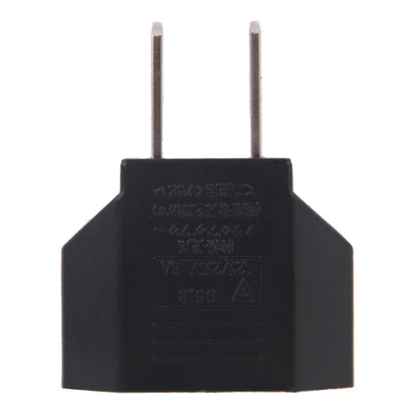 New EU Euro Europe USA to US USA Europe Power Jack Wall Plug Converter Travel Adapter 9H 5eac20