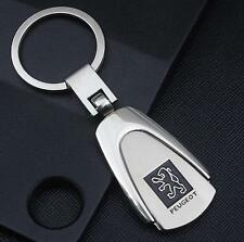 LG42 For Peugeot Car Logo Titanium Keyring Keychain Key Chain Ring Gift With Box
