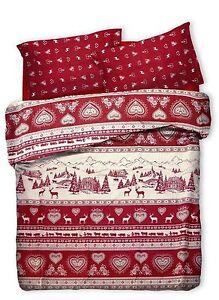 Copripiumino Rosso Matrimoniale.Copripiumino Matrimoniale Mod Tirolese Gardena Rosso E Bianco Con