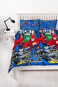 Lit-double-justice-league-Creation-Parure-de-lit-Batman-FLASH-GREEN-LANTERN-COMICS