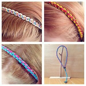 Details about Paracord Hair Band with Toggle, 4 Strand Round Braid,  Handmade UK