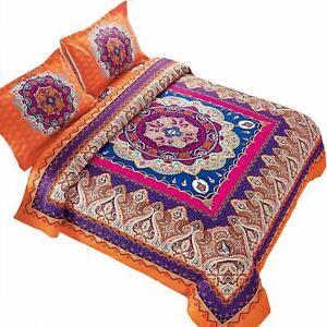 Queen Size Bedding Set Bohemian Medallion Comforter Women Teen Moroccan Boho Bag