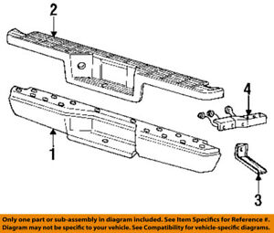 Details About Ford Oem Ranger Rear Bumper Step Pad Protector Guard Sill Plate 4l5z17b807bad