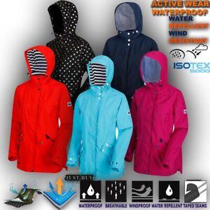 Womens-Waterproof-Jacket-Hiking-Work-Raincoat-Lightweight-Hoodie-Coat-Basili