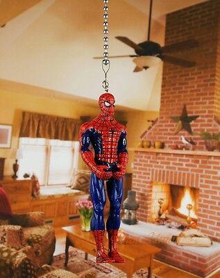 Marvel Superhero Spider-Man Ceiling Fan Pull Light Lamp Chain Decor K1137 G