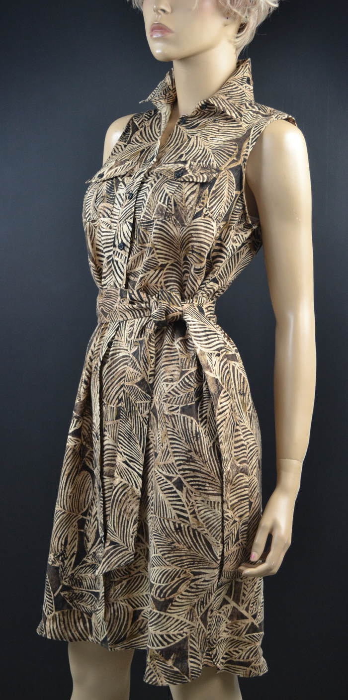 Lauren Ralph Lauren Tropical Leaf Sun Dress NWT Sz 4