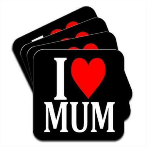 I Love Mum Birthday Gift Set of 4 Coasters