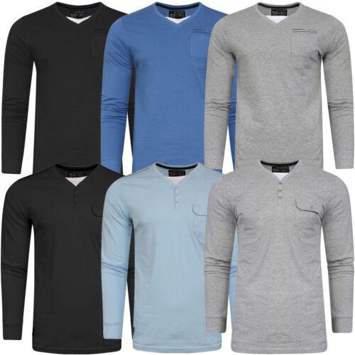 New Mens Dissident Cotton Insert Long Sleeve Regular Fit Jumper Tops Size S-XXL