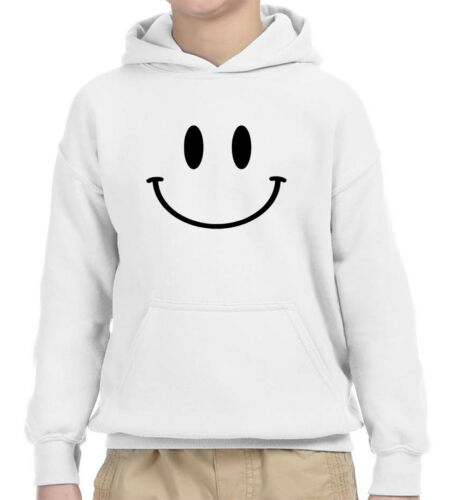 New Way 849 Youth Hoodie Smiley Face Emoticon Emoji Happy Smile