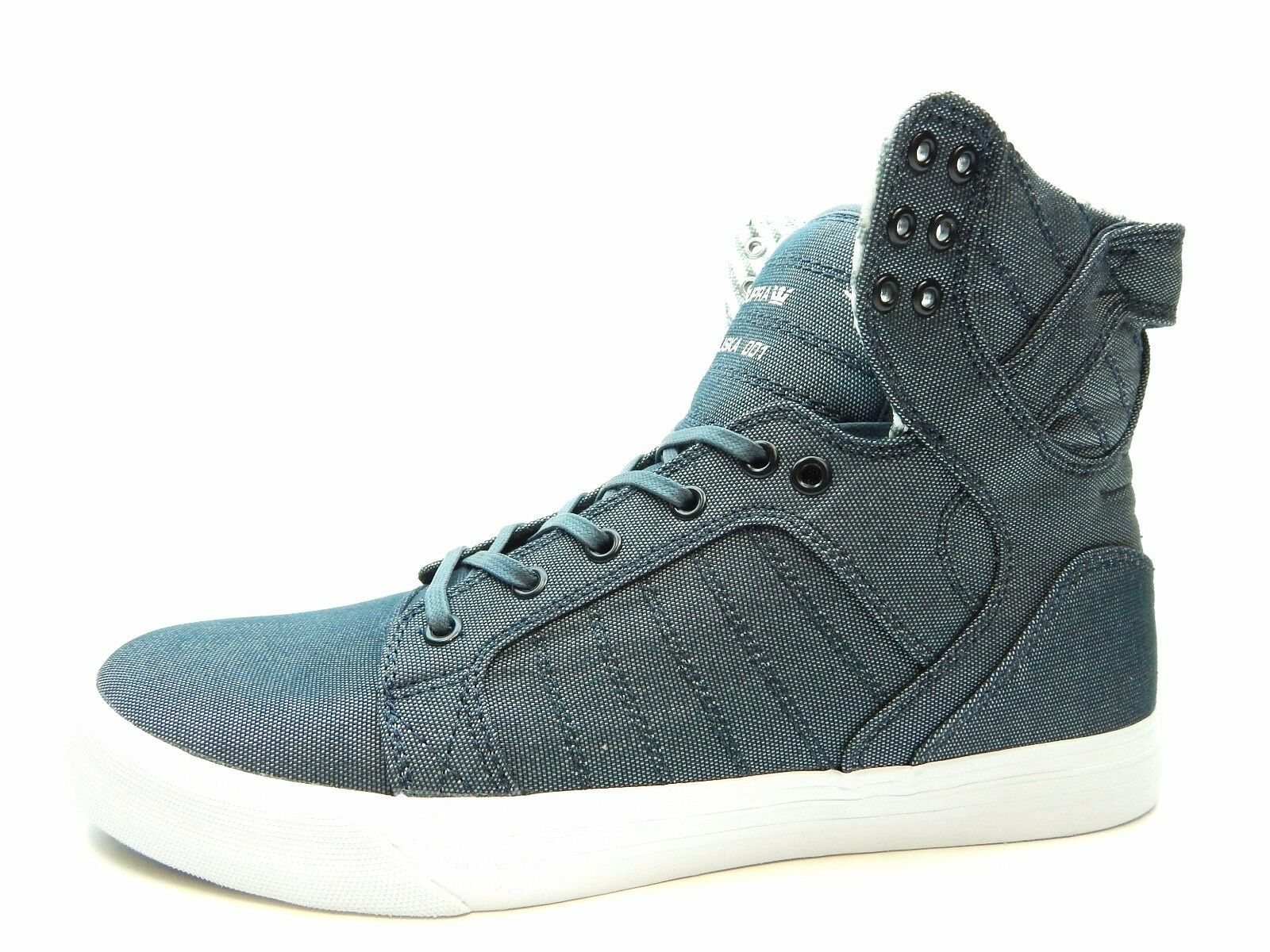 SUPRA SKYTOP bleu blanc 08002-427-M hommes Chaussures SIZE 8 TO 13