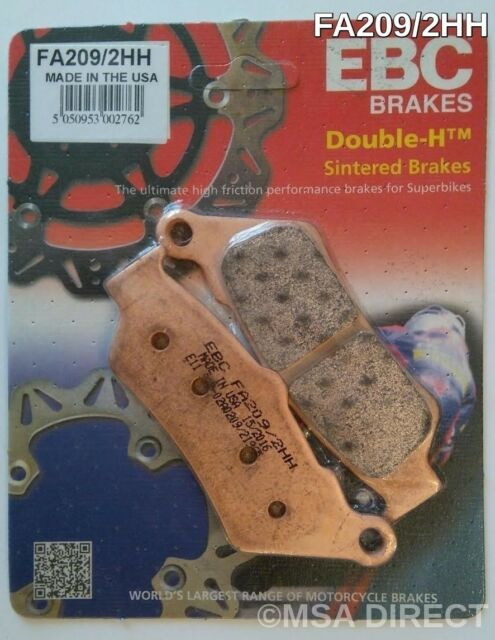 BMW HP2 Enduro (2005 to 2009) EBC Sintered FRONT Brake Pads (FA209/2HH) (1 Set)