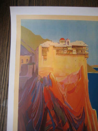 """Mount of Athos Greece 11/"""" x 17/"""" Collector/'s Travel Poster Print B2G1F"""