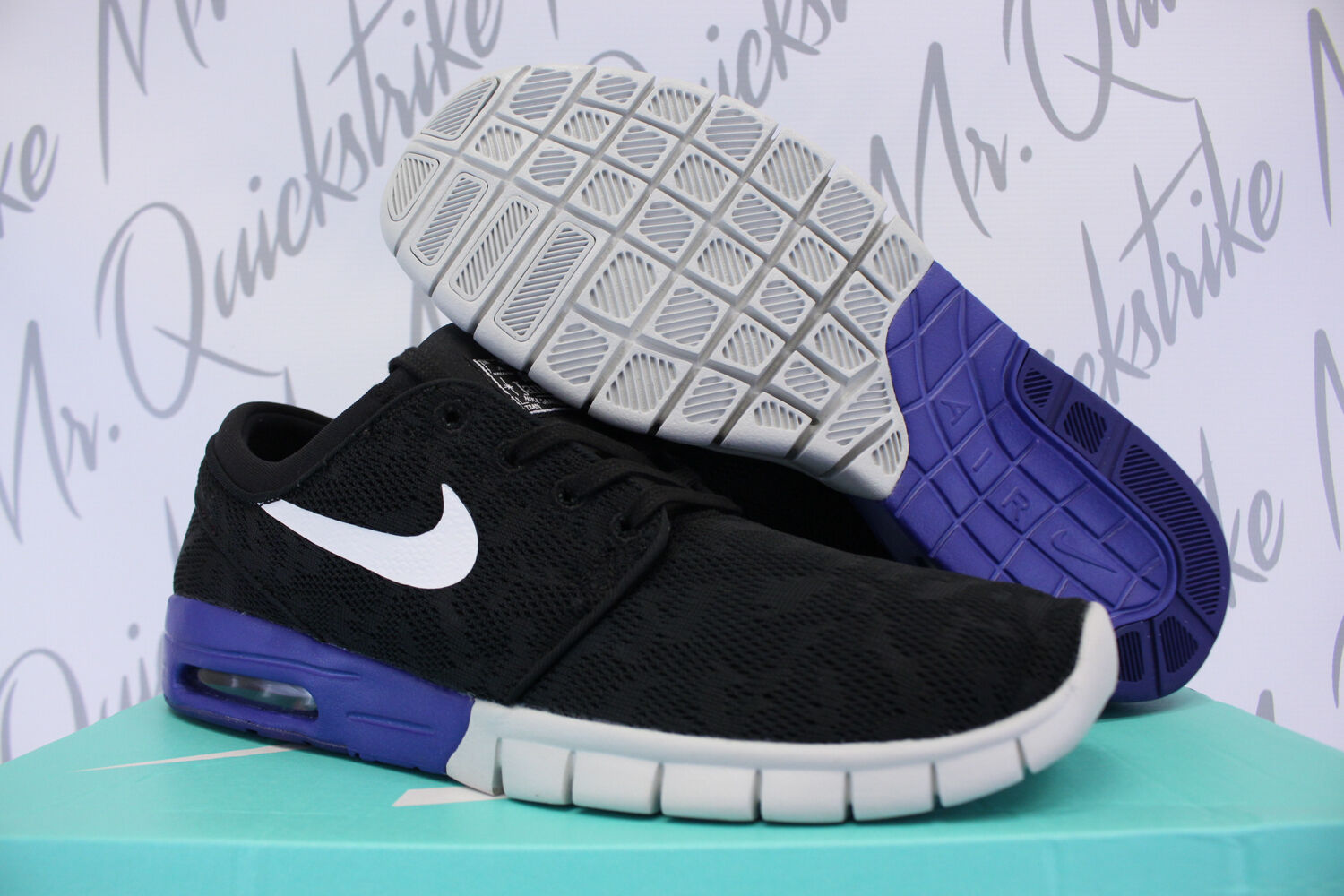 NIKE SB STEFAN JANOSKI MAX SZ 8.5 BLACK DEEP NIGHT WHITE 633 015