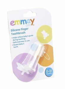 Emmay-Care-Children-Kids-Baby-Health-Clear-Silicone-Finger-Toothbrush-New-016