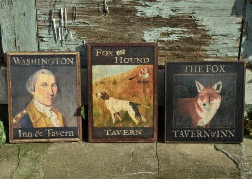 "Medium Repro-Original Art Trade Sign /""Washington Inn /& Tavern/"" On Wood"