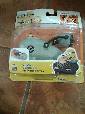 New Despicable Me 3 Gru/'s Free-Wheeling Vehicle with Minion Toy Figure