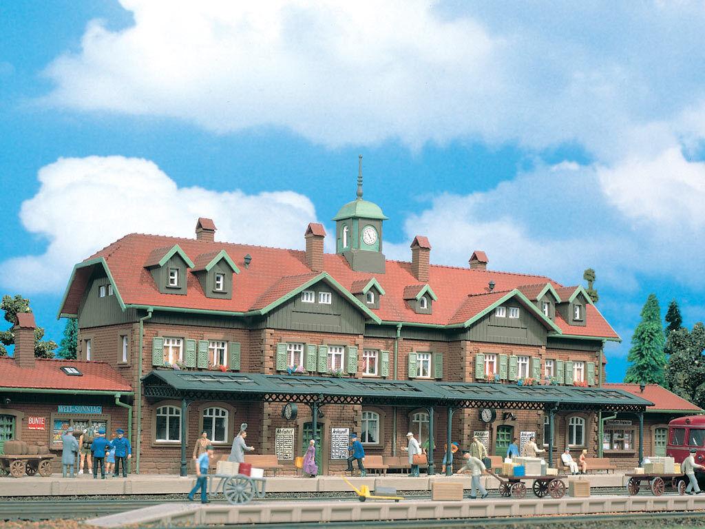 lo stile classico VOLLMER h0 3502 (43502) Stazione ferroviaria Moritz Castello Nuovo Scatola Scatola Scatola Originale  autentico
