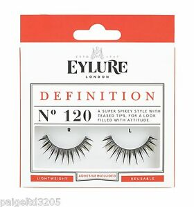 83e8669ed34 Eylure Definition No. 120 / 1 Pair Reusable False Eyelashes w ...