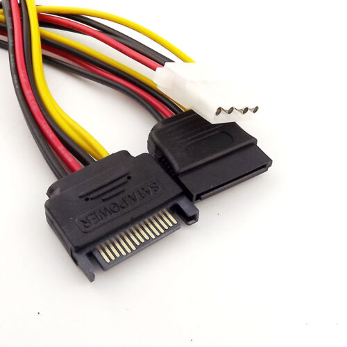15 Pin SATA Male to 15Pin Female//4 Pin IDE Female Y Splitter Power Adapter Cable