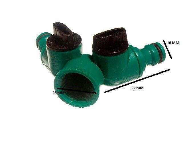 Quick Fix accoppiamento a scatto tubo da giardino doppia presa rubinetto arresto Confezione da 48