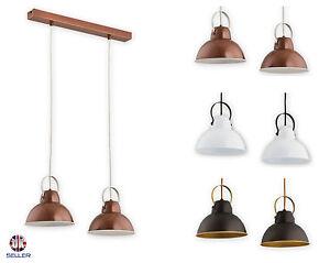 Pendant-2-lights-Ceiling-Light-Copper-Vintage-Lampshade-Industrial-Retro-Modern