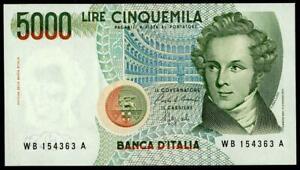 ITALY-5000-LIRE-BELLINI-FDS-LETTER-B-1988-UNC-BEAUTIFUL-BANKNOTE-LOOK