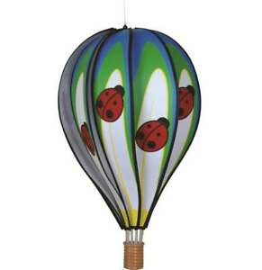 "Premier Kites Hot Air Balloon LADYBUG Wind Spinner (25775 - 22"" size)"