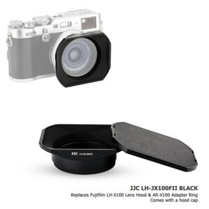 JJC-Metal-Lens-Hood-amp-Adapter-Ring-amp-Hood-Cap-for-Fujifilm-X100F-X100S-X100T-X70