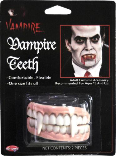Morris Costumes Adult Unisex Easy To Wear Soft Vampire Finged Teeth FW9326VP