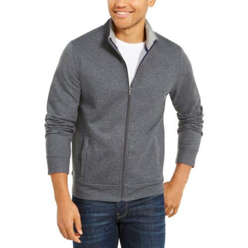 Club Room Mens Fleece Heathered Full-Zip Sweatshirt BHFO 2318