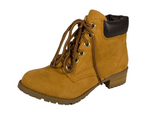 Women/'s Lace Up Cushion Collar Lug Sole Working  Ankle Boots EQUITY
